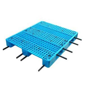 西域推荐 塑料托盘,网格川字,尺寸(mm):1000*1000*150,蓝色 动载1.2T 静载4T,上货架载重:0.7T