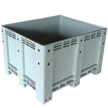 恋亚 封闭卡板箱,全新HDPE料,尺寸(W*D*H)mm:1200*1000*760,灰色,动载1T,静载4T