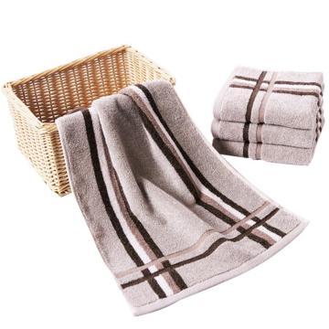 金號/依詩家 純棉毛巾,100g 70*34cm SK/1093,咖啡色/藍色,全棉提緞加厚面巾,顏色隨機