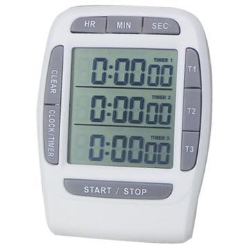 追日 PS-370三组多通道计时器,实验室倒计时器电子定时器提醒器秒表 单位:块