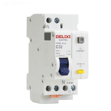 德力西 HDBE-40LE 1P+N C 6A 30mA微型漏电保护断路器,HDBE40LEC6