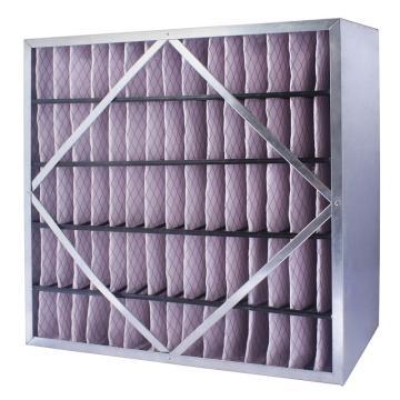 FLMFIL 镀锌框隔板型中效空气过滤器292*594*150mm,过滤效率F7