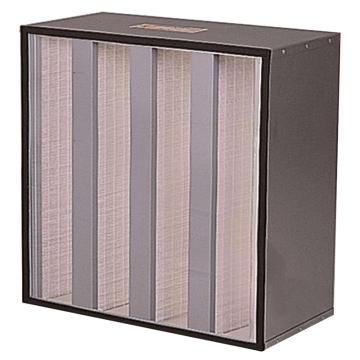 FLMFIL 镀锌框扩展滤面的高效空气过滤器,594*594*292mm,过滤效率H10