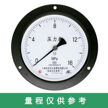 上仪 压力表Y-103,碳钢+铜,轴向前带边,Φ100,0~0.1MPa,M20*1.5