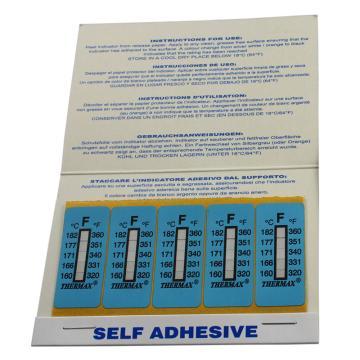 温度美/TMC 热敏贴纸,Thermax不可逆系列5格F,160/166/171/177/182℃,1包10片
