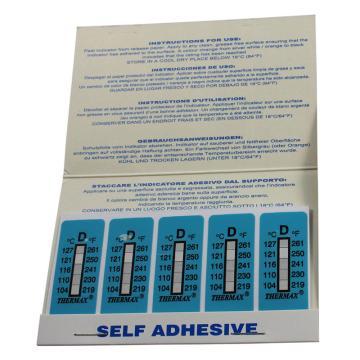 温度美/TMC 热敏贴纸,Thermax不可逆系列5格D,104/110/116/121/127℃,1包10片