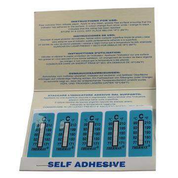 温度美/TMC 热敏贴纸,Thermax不可逆系列5格C,77/82/88/93/99℃,10包100片