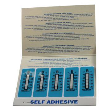 温度美/TMC 热敏贴纸,Thermax不可逆系列5格B,49/54/60/65/71℃,10包100片