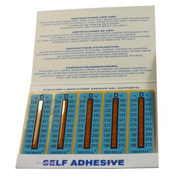 温度美/TMC 热敏贴纸Thermax不可逆系列10格D,188/193/199/204/210/216/224/232/241/249℃,10包100片