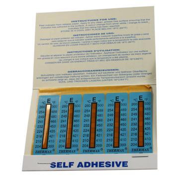 温度美 热敏贴纸,Thermax不可逆系列8格E03,204/210/216/224/232/241/249/254/260℃,10包100片