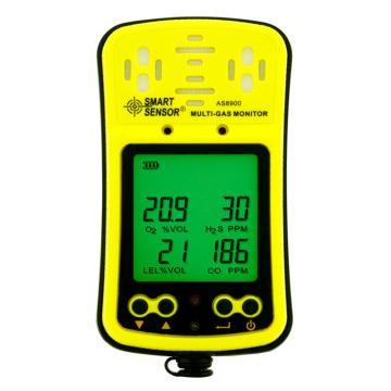 希玛/SMART SENSOR 四合一气体检测仪,AS8900,O2/CO/H2S/LEL,扩散式,带充电