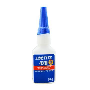 乐泰 瞬干胶,Loctite 420 高强度,20g