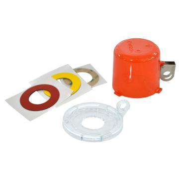 贝迪BRADY 按钮锁,直径64mm,高50mm,底座中心孔直径22mm,红色,130820
