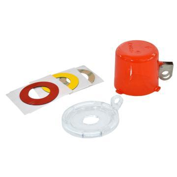 貝迪BRADY 按鈕鎖,直徑64mm,高50mm,底座中心孔直徑16mm,紅色,134018