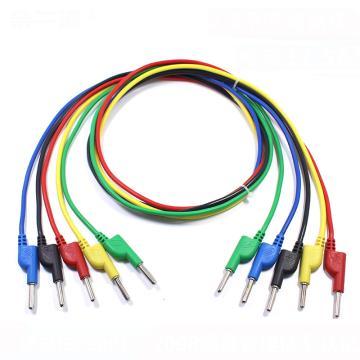 香蕉插头线(黑、红、绿、蓝、黄颜色可选,需备注),价格为单根