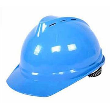 梅思安MSA 安全帽,10172516,V-Gard PE豪华型安全帽 蓝 超爱戴帽衬 D型下颏带