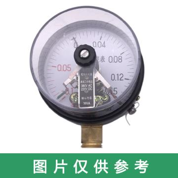 上仪 电接点压力表YXC-100,全碳钢材质,径向不带边,Φ100,0~0.1MPa,M20*1.5