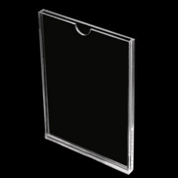 A4 亚克力 卡槽插纸宣传展示牌(无拇指扣)配3M背胶
