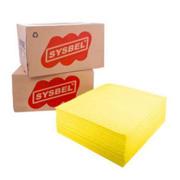 西斯贝尔SYSBEL 防化类吸附棉片,40×50cm,CP0001Y,100片/箱