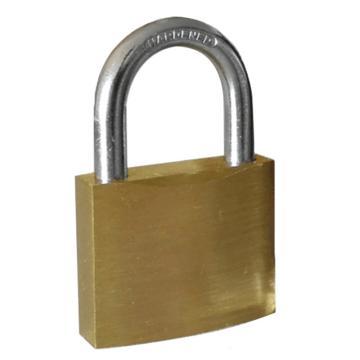 都克 全铜挂锁短锁梁,通开型,锁体宽40mm,锁钩直径6mm,P72S