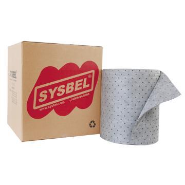 西斯贝尔SYSBEL 通用型吸附棉卷,38.1mm×45.72m,SUR001,1卷/箱
