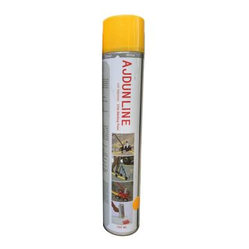艾捷盾 划线漆 黄色 840ml/罐
