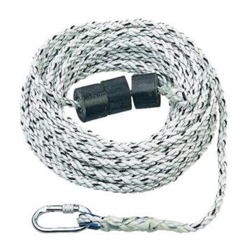 霍尼韦尔 三股安全绳,配有1个安全钩和1个重锤,14mm,40米,1002894