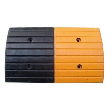 襄辰 条纹型原生橡胶减速带,长490×宽297×高35mm(不含封头,含安装配件)