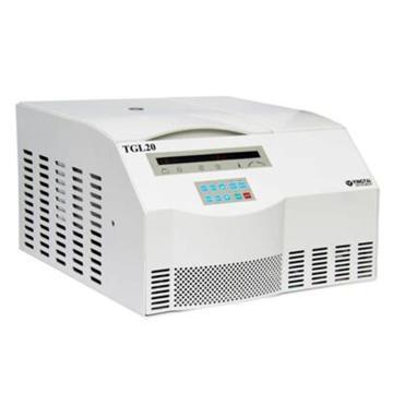 TGL20台式高速冷冻离心机,最高转速21000,最大容量6×100ml,主机