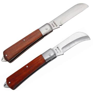 世达电工刀,弯刃木柄70mm, 03110