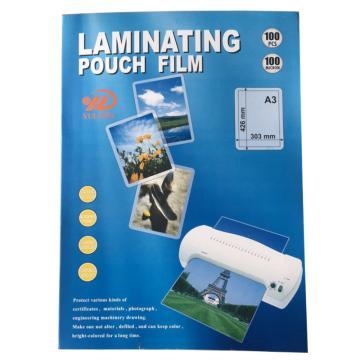 LAMINATING FILM 塑封膜,A3,100張/包,厚度100MIC,303*426mm 單位:包