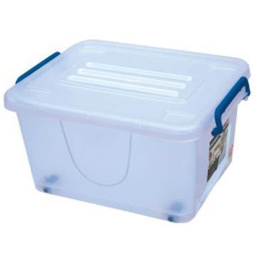 恋亚 PP整理箱,白色,外径尺寸(mm):380*290*195,容积:17L,承重:13.5kg,4个轮子