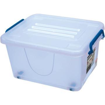 恋亚 PP整理箱,白色,外径尺寸(mm):510*360*280,容积:50L,承重:37.2kg,4个轮子