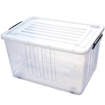 恋亚 PP整理箱,白色,外径尺寸(mm):470*340*250,容积:35L,承重:29.8kg,4个轮子