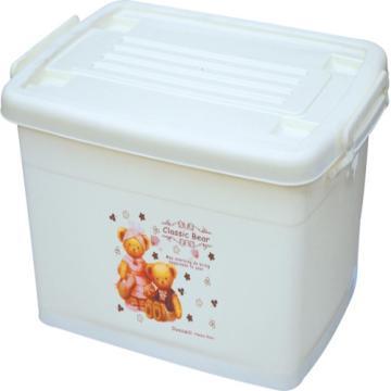 恋亚 PP整理箱,米黄色,外径尺寸(mm):790*580*480,容积:160L,承重:158kg,4个轮子