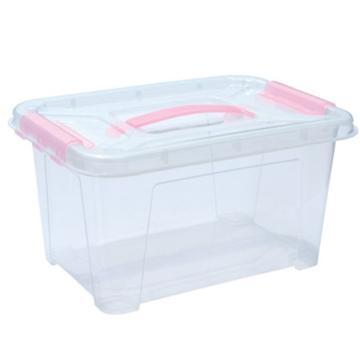 恋亚 PP整理箱,白色,外径尺寸(mm):326*220*180,容积:9L,承重:8.9kg,无轮子