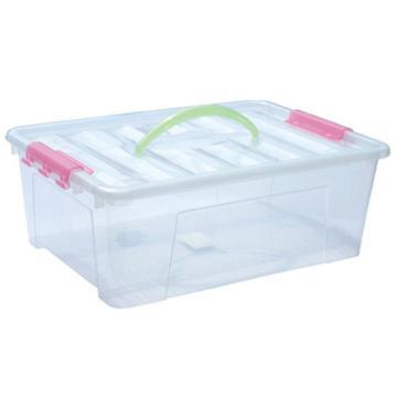 恋亚 PP整理箱,白色,外径尺寸(mm):456*320*180,容积:20L,承重:21.5kg,无轮子