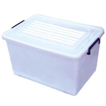 恋亚 PP高透整理箱,白色,外径尺寸(mm):390*305*205,容积:17L,承重:15.2kg,4个轮子