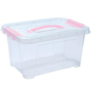 西域推荐 PP高透整理箱,透明,外径尺寸(mm):270*185*155,容积:5L,承重:5kg,无轮子