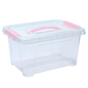 恋亚 PP高透整理箱,白色,外径尺寸(mm):385*265*205,容积:14L,承重:14.3kg,无轮子
