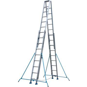 铝合金双面升降梯,伸展长度(mm):7000,收缩长度(mm):4200