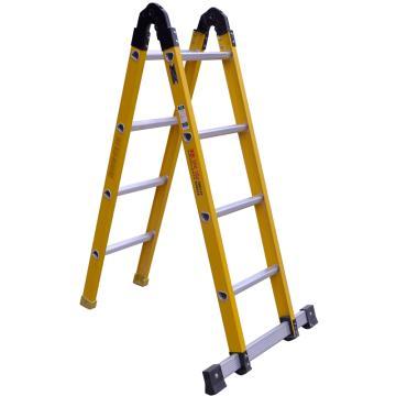 半绝缘两关节梯,扩展长度(mm):4000