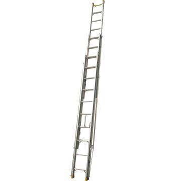 铝合金单面三联梯,伸展长度(mm):10000