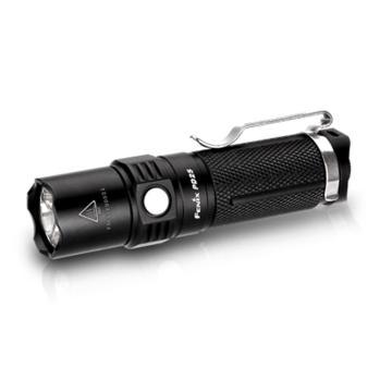 Fenix 菲尼克斯   PD25  XP-L  V5黑色 迷你强光防水LED手电筒,含手绳、手电套、抱夹、备用O圈(不含电池和充电器)