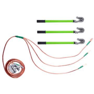 35kv接地线3*2+18米25平放线+3根1.5米长双簧钩接地棒+1接地夹