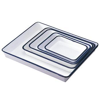 进口搪瓷盆,八开纸,295×235×35mm