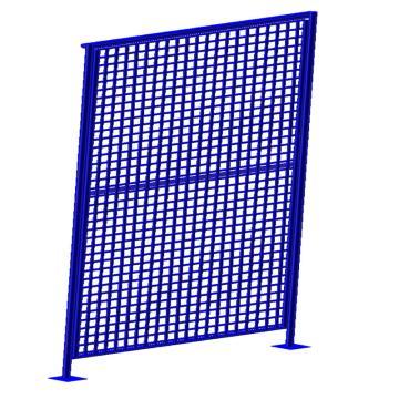 博储 立柱50*50*2.0mm,外框30*20*2.0mm,线径4.0mm,网格50*50mm,喷塑,蓝色(安装费另询)