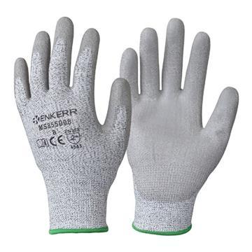 赢克尔 5级防割手套,MS855008-9,PU涂层