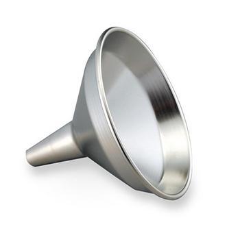进口不锈钢漏斗,口径φ145mm,上部(下部)管径φ30(φ15)mm