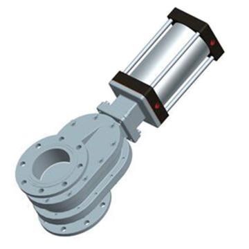 常州凱潤 鎢合金雙閘板氣鎖耐磨出料閥 SZ644WJ-10Q,DN50